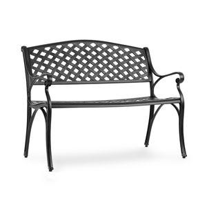Blumfeldt Pozzilli BL Gartenbank - Material: Aluminiumguss , witterungsbeständig , Platz für 2 Personen , separat erhältliches Sitzkissen , schwarz