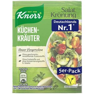 Knorr Salatkrönung Küchen Kräuter klares Salat Dressing 5x 8g 5er