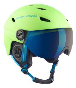 BLACK CREVICE Ski- & Snowboardhelm mit Visier - SILVRETTA | Farbe: Grün/Blau | Größe: M (57-58 cm)