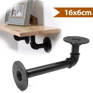 1PC Rohr Regalhalterungen Industrial Regal für Bücherregal Schwimmende Regale Sanitär Rohrregal für Schlafzimmer Bad Küche Büro