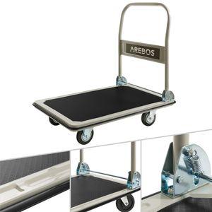 AREBOS Plattformwagen Transportwagen Handwagen Transportkarre Wagen 300 kg - direkt vom Hersteller