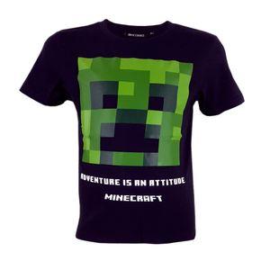 Minecraft Creeper Black Kinder T-Shirt Kurzarm Shirt Baumwolle Größe - 140