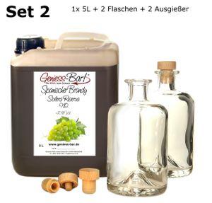 Spanischer Brandy Solera Reserva X.O. 5 L & 2 Flaschen & 2 Ausgießer gratis 40% Vol.