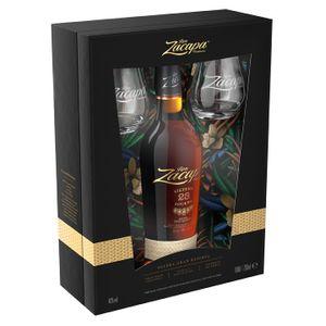 Ron Zacapa Centenario Sistema 23 Solera + 2 Gläser Geschenkpackung | 40 % vol | 0,7 l