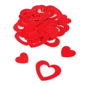 Oblique Unique Herz Konfetti Tischdeko Streudeko Valentinstag Hochzeitsdeko - rot