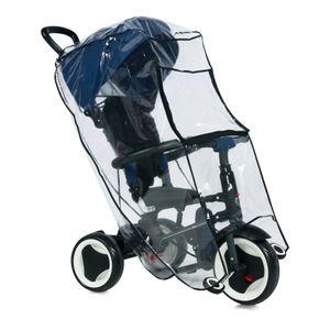 Lorelli Universal Regenschutz, Kinder Dreirad, Schutz vor Regen und Wind transparent