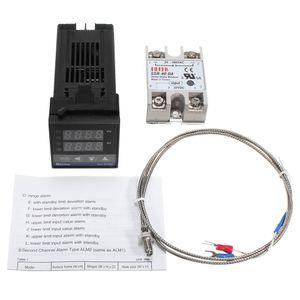 Digital LCD PID REX-C100 Temperaturregler Set + K Thermoelement + Max.40A SSR