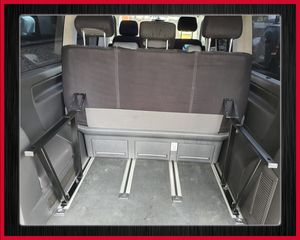 Multiflexboard Konsolen klappbar kompatibel mit T5 & T6 Multivan Pulverbeschichtet: Schwarz  Höhe: 51cm