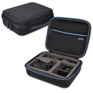 kwmobile Tasche kompatibel mit Panasonic ER-GP80 - mit Innenfach für Ladekabel - Schutztasche kompatibel mit Panasonic Haarschneider Haarschneidemaschine - Schwarz