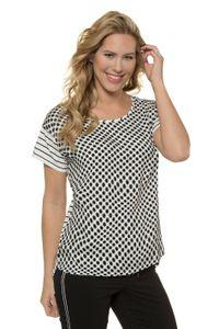 Gina Laura Shirt relaxed gepunktetes Vorderteil NEU, Rundhalsausschnitt, schick, Größe:S