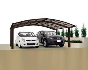 Carport XIMAX Portoforte Alu Typ 60 M mattbraun 495x542x248cm