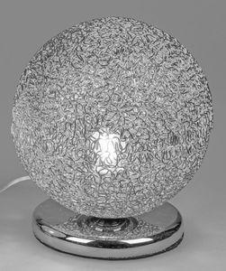 Formano Lampe Kugel 25 cm silber Draht Kugelleuchte mit Touchfunktion