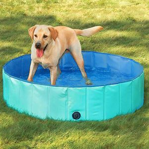 Speed Hundepool,Doggy Pool,Katzenpool,Faltbares Pool,Kinderbadewann,Grün,120x30CM