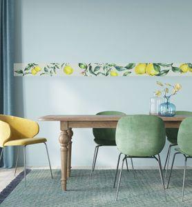 MyMaxxi - Bordüre selbstklebend  Zitronen 900 x 20cm  Wandbordüre Wandtattoo  Aufkleber wasserdicht geeignet für Bad  Dekoration für Ihr Badezimmer Wohnzimmer Küche