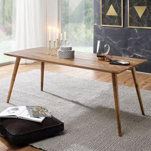 FineBuy Esszimmertisch Sheesham rustikal Massiv-Holz | Design Landhaus Esstisch | Tisch für Esszimmer groß | 6 - 8 Personen , Größe:180 x 80 cm