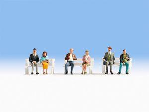NOCH Fahrgäste, Figuren, NOCH, 6 Stück(e), Mehrfarbig, HO (1:87), 20 g