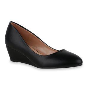 Giralin Damen Pumps Keilpumps Keilabsatz Klassische Freizeit-Schuhe 836411, Farbe: Schwarz, Größe: 38