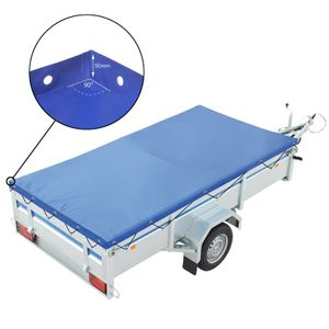 ProPlus Anhänger Flachplane Blau mit Gummigurt 2075x1140x50mm  &