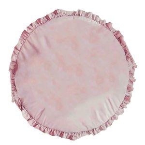 Kinder Baby Säugling feste Farbe Spiel Spiel Matte runde kriechende Pad Teppich rosa