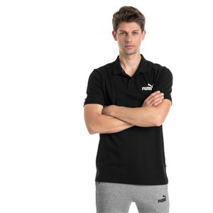 PUMA ESS Pique Herren Poloshirt Baumwolle Schwarz, Größe:XL