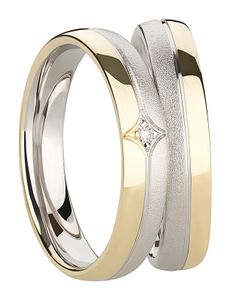 Paar Ringe Diamantring 925 Silberringe Gold plattiert Freundschaftsringe Partnerringe Verlobungsringe Ehering aus 925 Sterlingsilber  mit Diamant und er Gravur Antragsringe Hochzeitsringe Trauringe