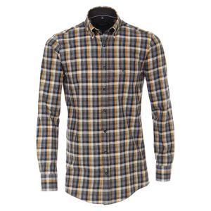 CasaModa Flanellhemd Übergröße anthrazit-gelb kariert, Größe:5XL