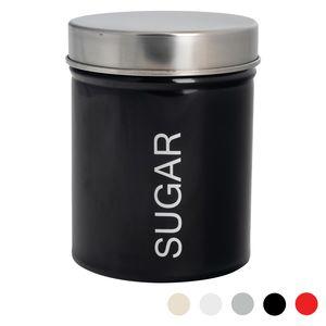 Harbour Housewares Moderne Zuckerdose - Stahl Küche Lagerung Caddy mit Gummidichtung - Schwarz