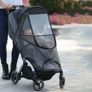 Universal Insektenschutz/Mückennetz für Kinderwagen & Buggy - idealer Schutz vor Wespen & Stechmücken dank feinem Netzgewebe - reißfest & waschbar, Schwarz