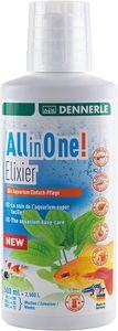 Dennerle All-in-One Elixier 500 ml - Die Aquarium Einfach-Pflege für Fische, Garnelen, Pflanze, Filter und Wasser