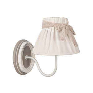 Wandlampe VIVIEN grau weiß antik Landhausstil french shabby chic Wandleuchte