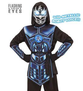 Kostüm Cyber Ninja mit Licht und Sound, Größe:140