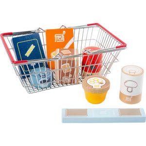 Small Foot 11443 Lebensmittel-Set im Einkaufskorb fresh