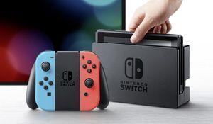 Nintendo Switch Konsole, mit verbesserter Akkuleistung, Farbe Neon-Rot/Neon-Blau HAC-001(-01)