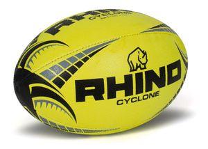 Rhino rugbyball Cyclone Junior Gummi/Polyester gelb Größe 5