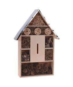 """Insektenhotel """"XL"""" 67 cm zum Aufhängen - mit Metall Dach"""