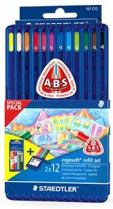 STAEDTLER Dreikant Buntstift ergosoft Promotion Pack 24 Stifte