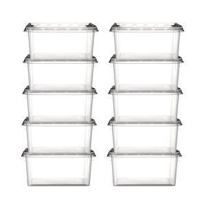 10er Set Aufbewahrungsbox stapelbar Smart Store Classic 15 transparent