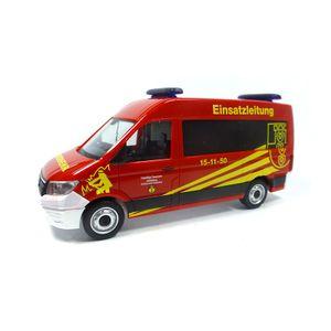 """Herpa 094269 VW Crafter Bus """"Einsatzleitwagen Feuerwehr"""" rot Maßstab 1:87"""