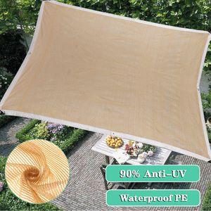 Meco Sonnensegel Rechteckig 3x3m Sonnenschutz Atmungsaktiv UV Schutz für Balkon Terrasse Garten,Beige