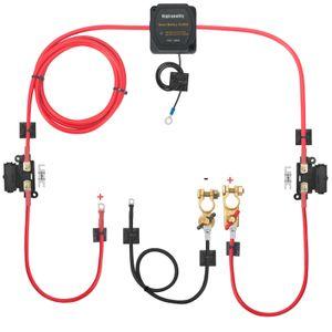 3 mtr separates Ladeset 12V 140A Spannungsspannungsrelais 110amp Kabel T4 T5 Doppelbatterie-Isolatorsatz Doppelbatterie-Controller-Set Doppelbatterieschalter