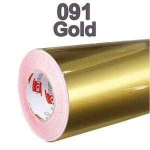 (5,37€/m²) Oracal® Möbelfolie 091 Gold Glanz 31,5 cm Breite Laufmeterware selbstklebende Folie Plotterfolie Klebe Folie Oracal 621 glänzende Küchenfolie