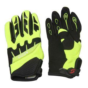 Kinder Motocross Handschuhe Moto Cross Downhill Mountainbike Offroad Farbe: Gelb Größen: S