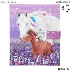 Depesche 11419 weißes Pferd Miss Melody & Fohlen Tagebuch mit Code und Sound