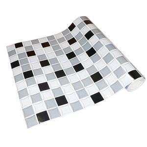 Selbstklebende Mosaik-Tapetenaufkleber Fliesen Küche Bad Wasserdicht H Farbe h