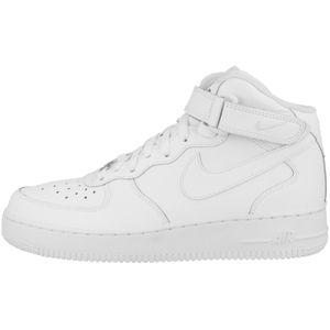 NIKE Air Force 1 Mid ´07 Kinder Echtleder-Sneaker Weiß Schuhe, Größe:39