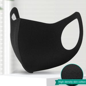 Antibeschlagmasken, dreidimensionale Schwammstaubmasken, Unisex, waschbare Schwammmasken, schwarz doppelt eingedickt ohne Atemventil