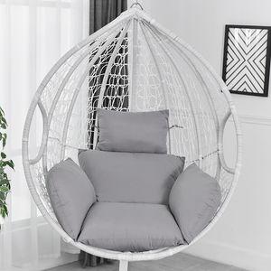 MECO Hängesessel Sofa Stuhlkissen Durable Sofa Cushion Kissen Stuhlkissen Farbe: Grau (Inhalt: 2 Kissen)