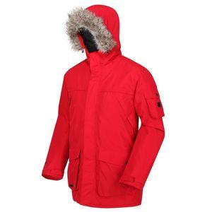 Regatta Winterjacke für Herren Wasserdicht mit Kapuze, Größe:M, Farbe:Rot