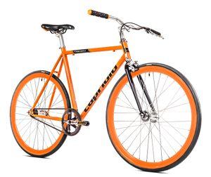 breluxx® Singlespeed 700C/1, 28 Zoll Fixie Singlespeed Fastboy CityBike, orange, 11,7kg,  EU