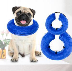 Aufblasbar Halskrause Halskragen Schutzkragen Schutz Trichter für Hund & Katze XS